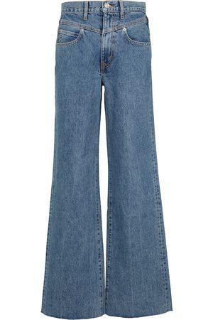 SLVRLAKE Jeans Grace a gamba larga e vita alta