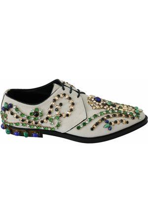 Dolce & Gabbana Suede Crystal Dress Broque Shoes , Donna, Taglia: 41