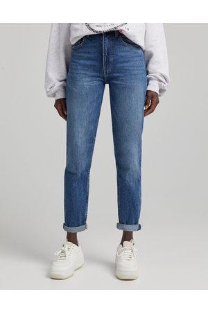 Bershka Mom jeans color pietra scuro