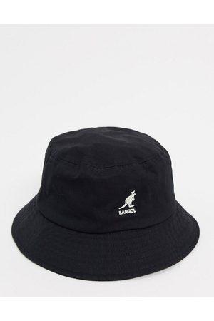 Kangol Cappello da pescatore e bianco con logo a contrasto