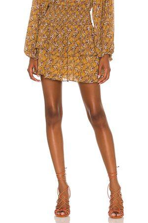 Minkpink Tarsus Mini Skirt in - Burnt Orange. Size L (also in S, XS, M).