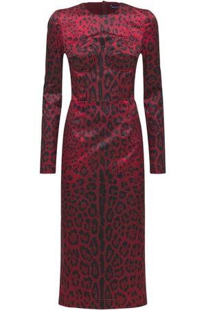 Dolce & Gabbana Vestito Midi In Raso Stretch