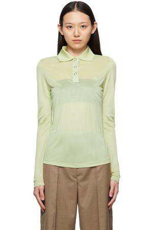 Burberry Green Louisa TB Long Sleeve Polo