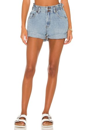 ONE TEASPOON Pioneer Shorts in - Blue. Size 22 (also in 23, 24, 25, 26, 27, 28, 29, 30, 31, 32).