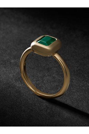 VADA Uomo Anelli - Bubble Gold Emerald Ring