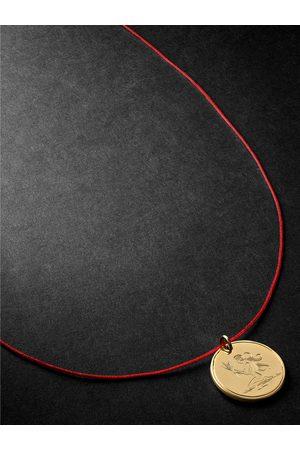 Duffy Jewellery Virgo 18-Karat and Cord Necklace