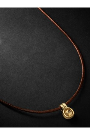 Fernando Jorge Uomo Collane - Cushion 18-Karat , Leather and Citrine Necklace