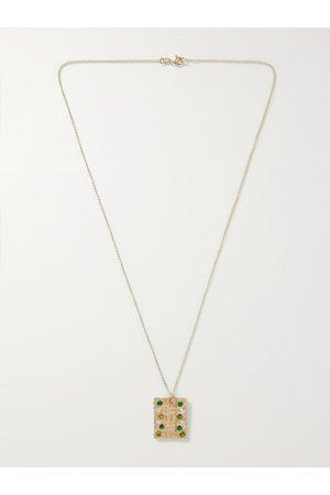 Bleue Burnham Uomo Collane - Sissinghurst 9-Karat Recycled , Emerald and Sapphire Necklace