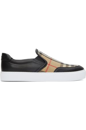 Burberry Salmond Check Slip-On Sneakers