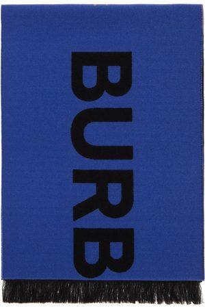 Burberry Wool & Silk Jacquard Geometric Logo Scarf