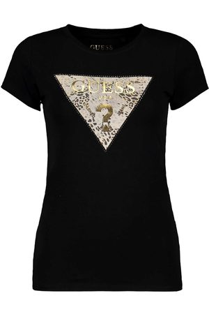 Guess T SHIRT STRETCH LOGO TRIANGOLO GHOST LEAPORD DONNA