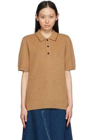 Burberry Brown Technical Silk Piqué Polo