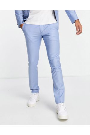 Twisted Tailor Livingston - Pantaloni da abito skinny azzurro