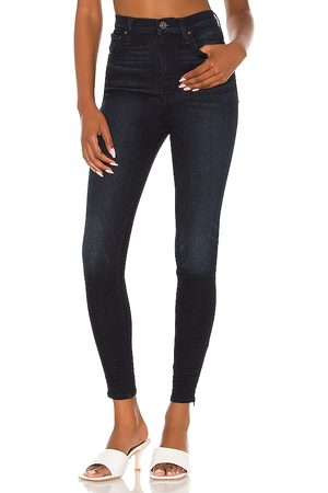 Hudson Donna Centerfold High Rise Super Skinny in - Blue. Size 23 (also in 24, 25, 26, 27, 28, 29, 30, 31, 32).