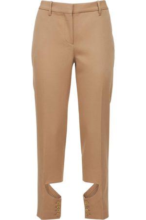 Burberry Donna Eleganti - Virgin Wool Pants W/cut Out Detail