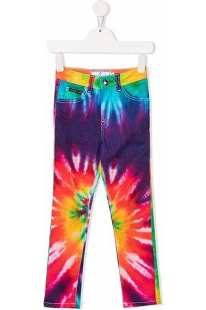 Philipp Plein Jeans skinny con fantasia tie dye