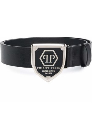 Philipp Plein Cintura con placca logo
