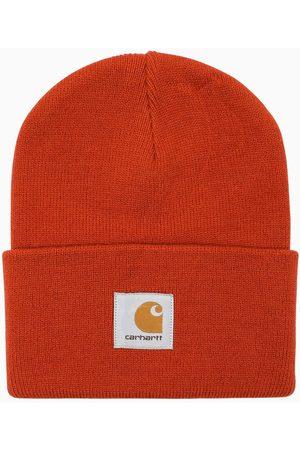 Carhartt Uomo Berretti - Berretto cuffia arancio con patch logo