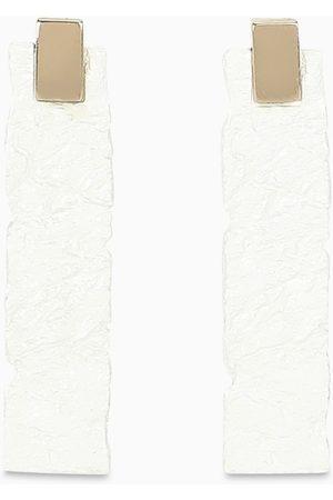 NOVE25 Uomo Orecchini - Orecchini Materic bianchi