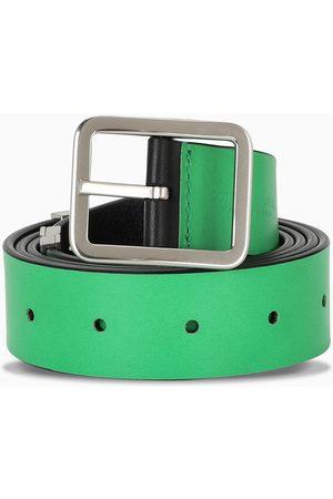 BOTTEGA VENETA Cintura double face nera/verde
