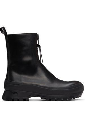 Jil Sander Uomo Stivali - Black Chunky Zip Boots