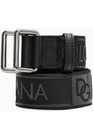 Dolce & Gabbana Cintura nera con scritta logo