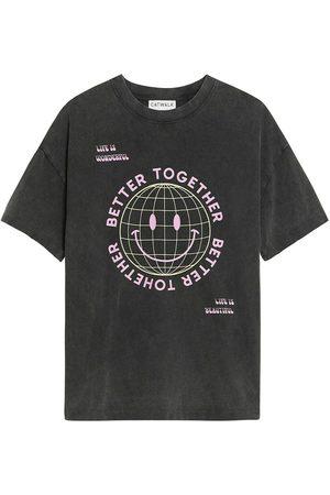 Catwalk Junkie T-Shirt Grid Smiley , Donna, Taglia: XS