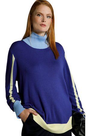Ulla Popken Donna Maglioni - Pullover con dettagli di colore