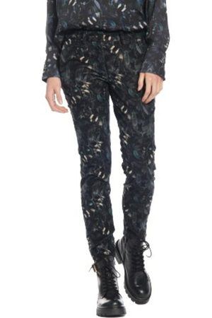 Masons Pantalon velours print feuilles Newyork slim 4Pntd1010-Ve36S37-5 , Donna, Taglia: 46 IT