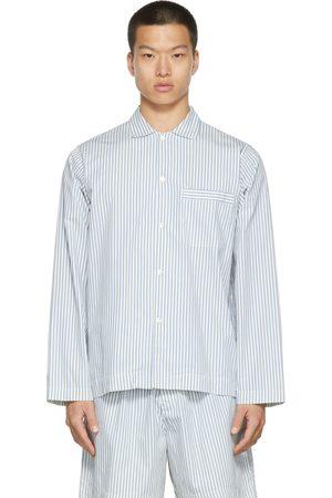 Tekla Uomo Pigiami - Poplin Striped Pyjama Shirt