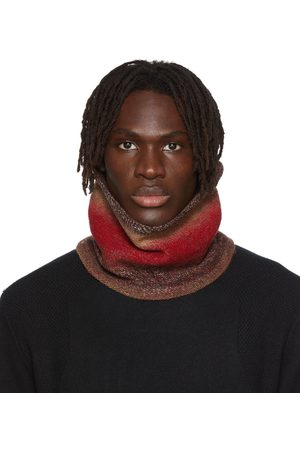 WOOYOUNGMI Uomo Sciarpe - SSENSE Exclusive Red Knit Neck Buff Scarf