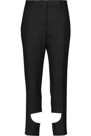 Burberry Donna Eleganti - Pantaloni in lana con cut-out