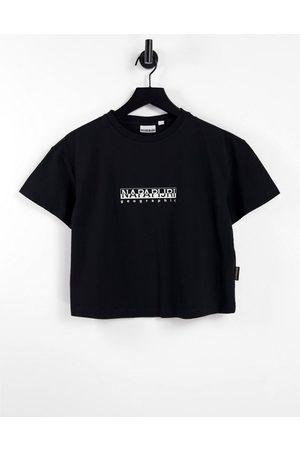 Napapijri Box - T-shirt corta squadrata nera