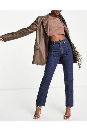 French Connection Jeans dritti a vita alta color indaco