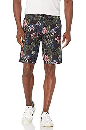 Goodthreads 11 inch Inseam Linen Cotton Short Shorts, Dark Palm, 29