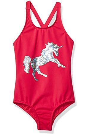 Spotted Zebra Swimsuit Fashion-One-Piece-Swimsuits, Pink Unicorn, 3T