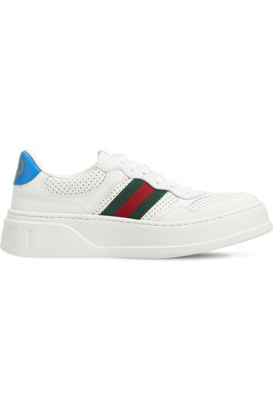 Gucci Donna Sneakers - Sneakers Chunky B In Pelle Con Web 50mm