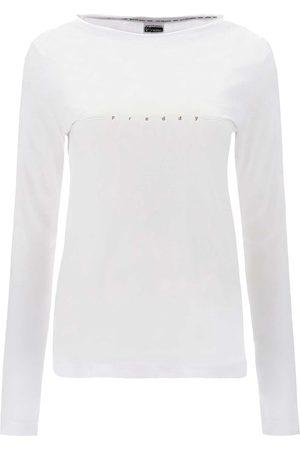 Freddy Donna T-shirt a maniche lunghe - MAGLIA MANICA LUNGA MINI LOGO DONNA