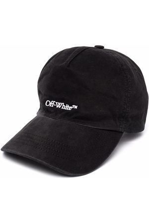 OFF-WHITE Uomo Cappelli con visiera - BOOKISH OW BASEBALL CAP BLACK WHITE