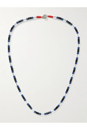 Roxanne Assoulin Uomo Collane - Well Suited Enamel and Silver-Tone Necklace