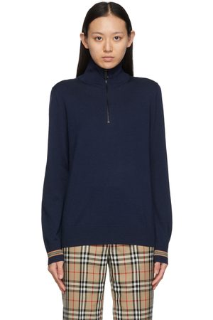 Burberry Donna Maglioni - Wool Icon Stripe Zip-Up Sweater