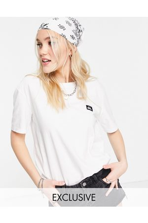 Quiksilver In esclusiva per ASOS - - Label Standard - T-shirt bianca