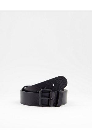 Bolongaro Cintura in pelle con doppia fibbia