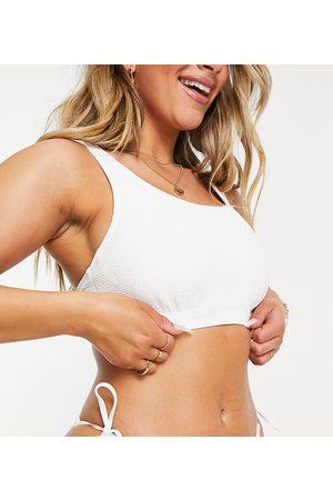 Ivory Rose Coppe Grandi - Mix and Match - Top bikini arricciato a coste con ferretto, colore