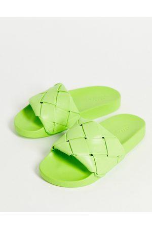 ASOS Finley - Sliders intrecciate verdi