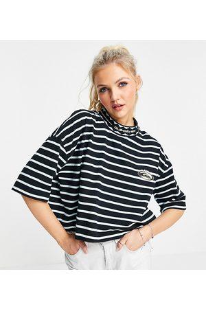 Quiksilver In esclusiva per ASOS - - 90 - T-shirt nera corta a righe