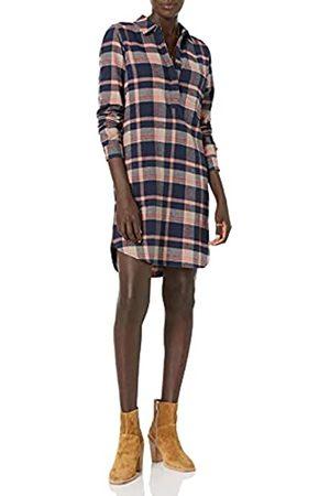 Goodthreads Brushed Flannel Popover Dress Vestito, Tartan Spazzolato Navy, L