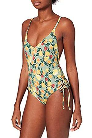 IRIS & LILLY Donna Costumi interi - Am05 Costumi da Bagno, , Stampa Limoni, 48