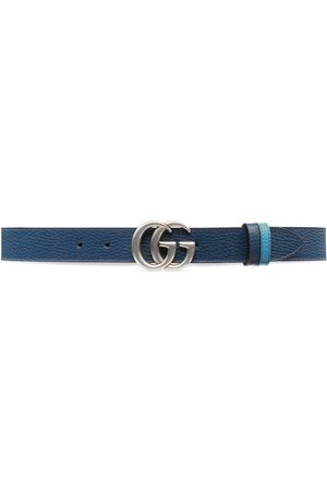 Gucci Uomo Cinture - Cintura sottile reversibile GG Marmont