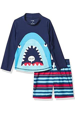 Simple Joys by Carter's Neonati Costumi interi - Costume da bagno per bambini e neonati, 2 pezzi ,Blue Shark ,4T